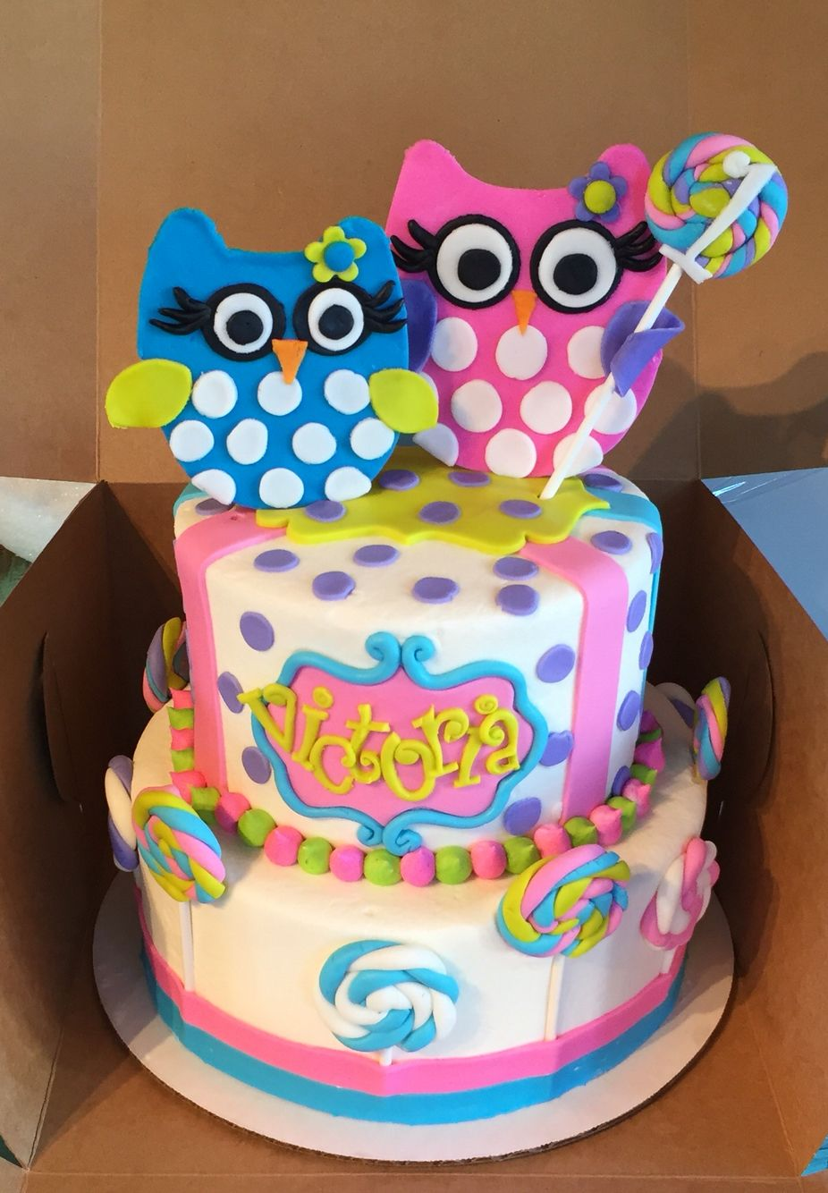 Owl First Birthday Cake Cakes By Sarahs Sweets Pinterest