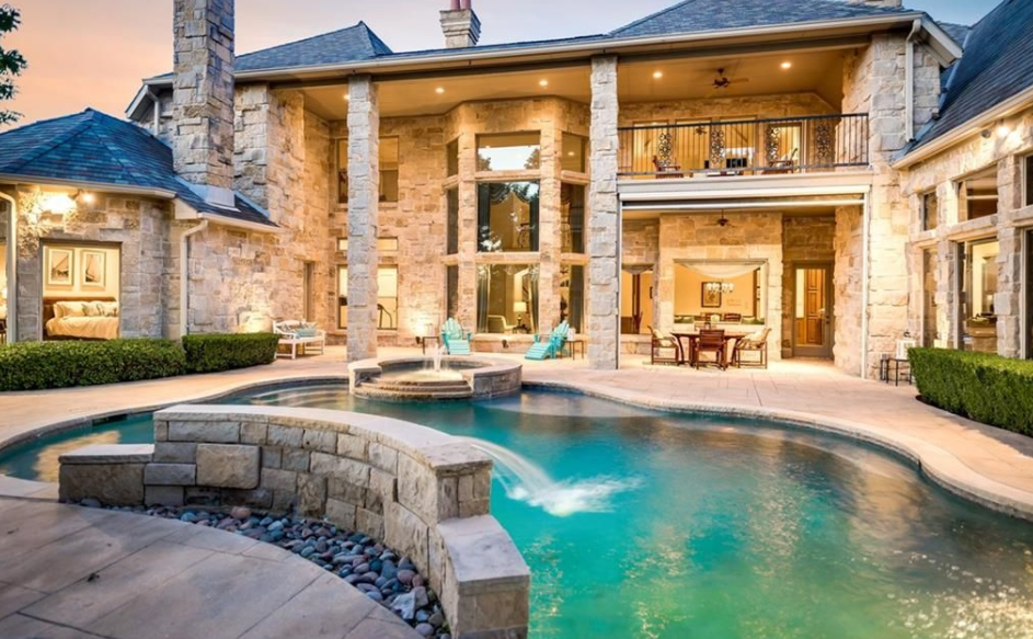 This French Style Stone Mansion Is Located At 6437 Sudbury Road In Plano TX And