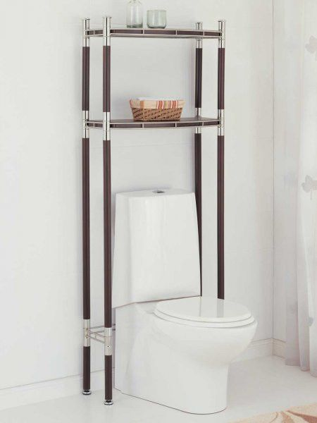 Over the Toilet Etagere (Chrome/Brown) (65\