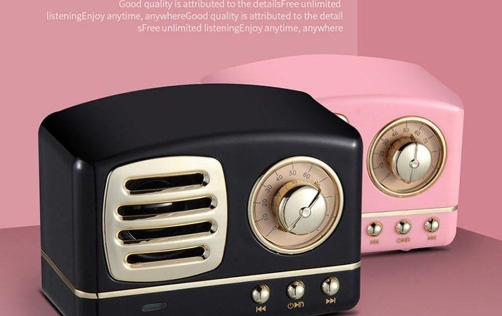 Vintage Mini Bluetooth Speaker 3D Stereo Surround HiFi Sound Effect Music Player
