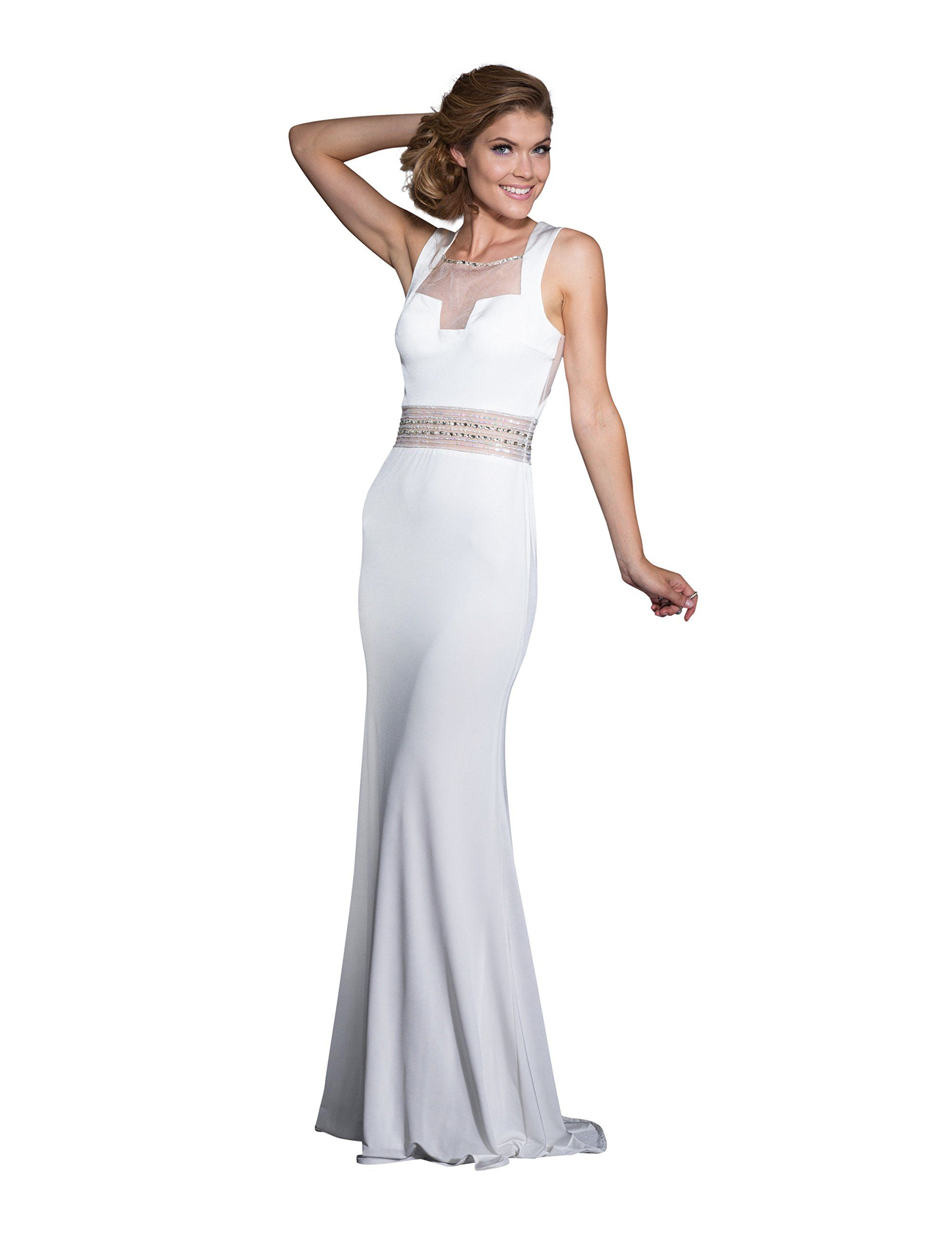 Clarisse long prom dress and evening gown size white