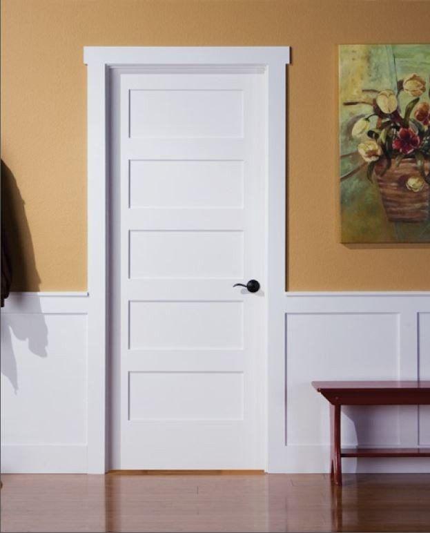 5 Panel Oak Shaker Doors Solid Core Pre Hung Google Search