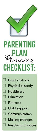 ParentingPlanningChecklist  Divorce And Children