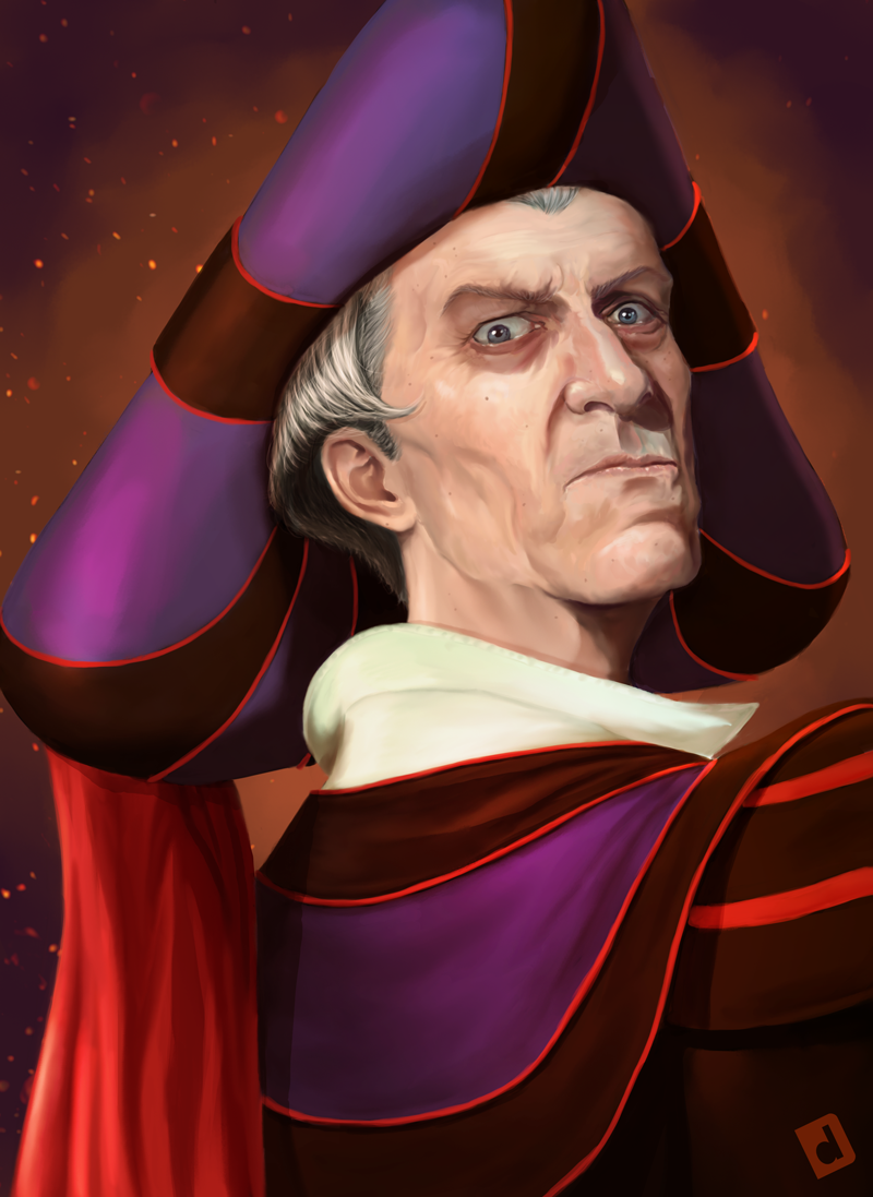 Claude Frollo The Archdeacon Of Notre Dame By DavidJacobDuke - Artist brings disney villains to life in eerily realistic illustrations