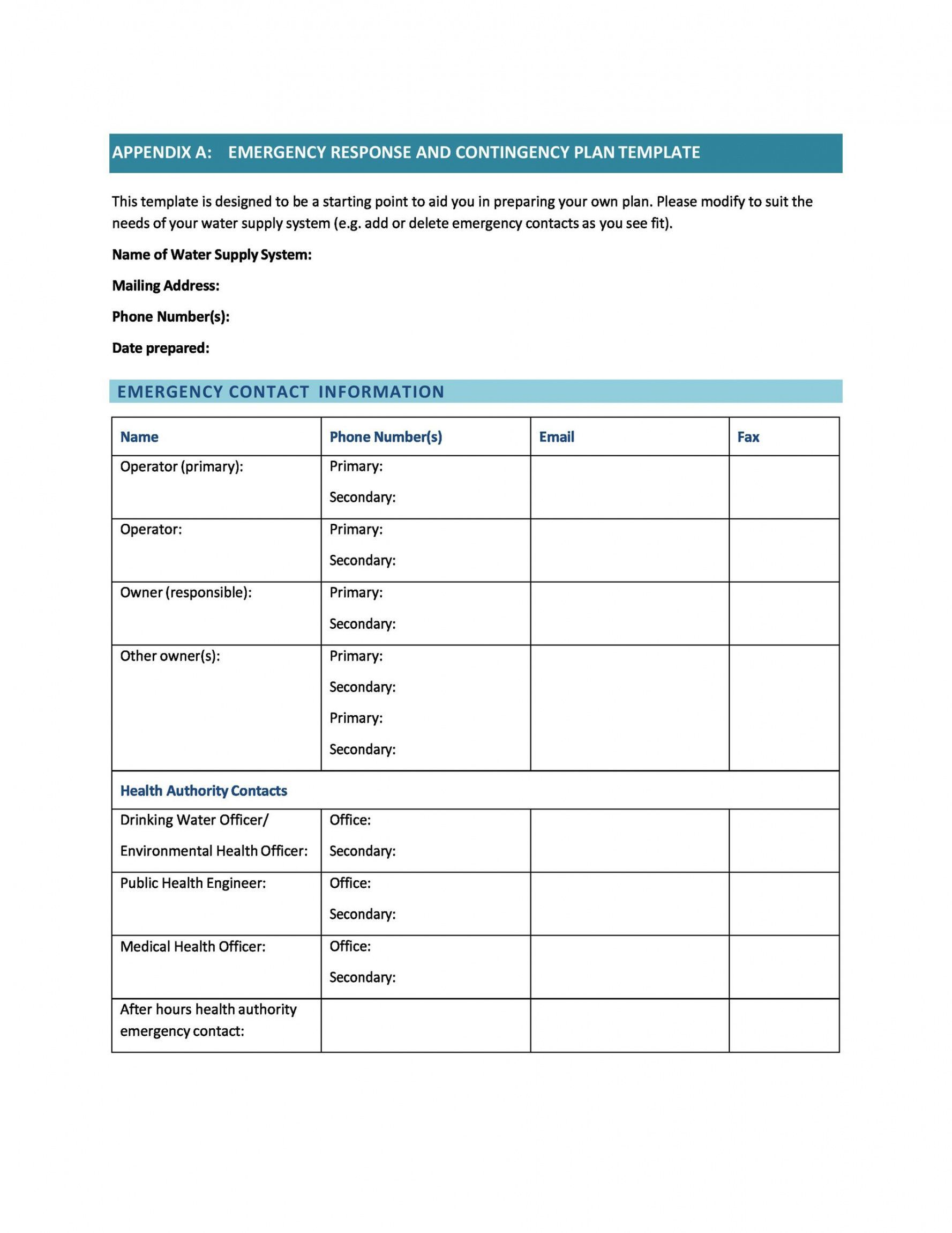Browse Our Example Of Payroll Disaster Recovery Plan Template For Free Business Contingency Plan Family Emergency Plan Online Business Plan Template It disaster recovery plan template