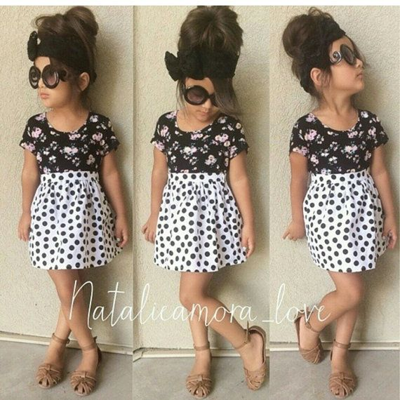 High Waisted Skirt - White Polka Dot Skater Skirt -Baby Toddler ...