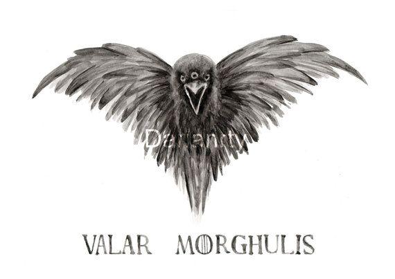 Game of Thrones Three Eyed Crow T Shirt Noir