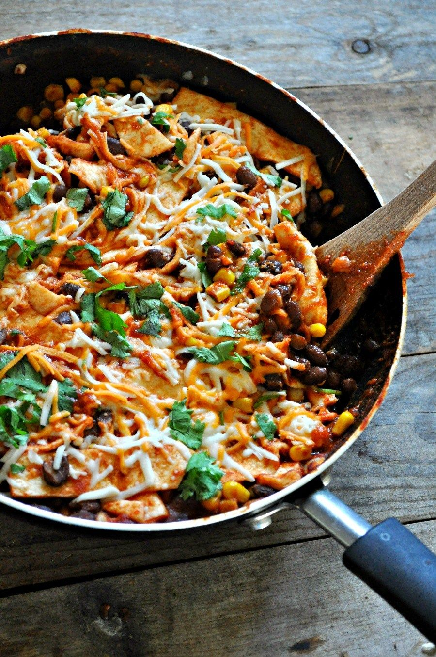 Vegan Red Chili Burrito Skillet