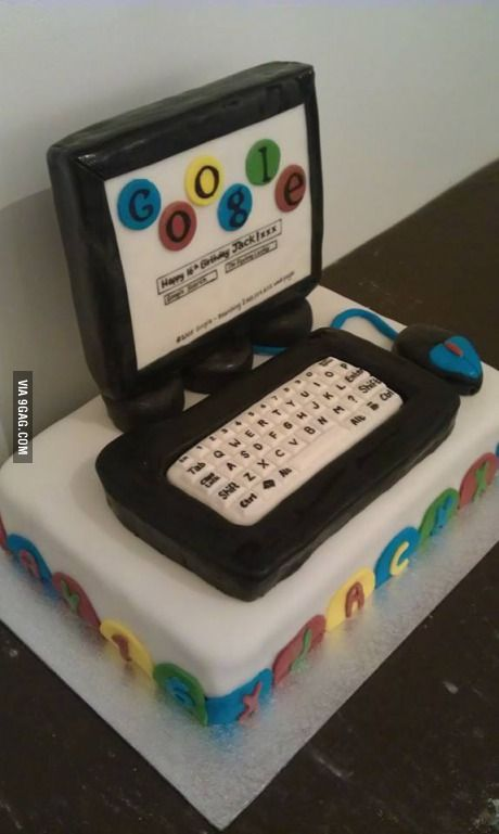 My Cousin Made This Computer Birthday Cake For Her 16 Year Old Son