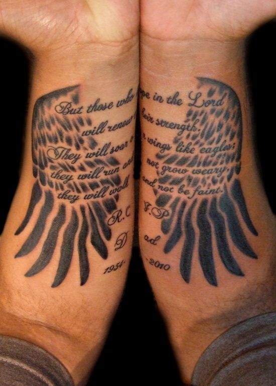 6f1bdb1b03b2a Wings Tattoo Design: Couple Wings Tattoo Design For Men On Arm ~ Cvcaz  Tattoo Art Ideas ~ Tattoo Design Inspiration