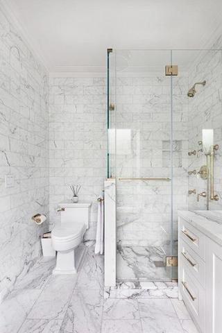 Carrara White Marble 3x6 Subway Tile Polished Honed Tilezz Bathroomrenovationideas White Marble Bathrooms Carrera Marble Bathroom Marble Tile Bathroom