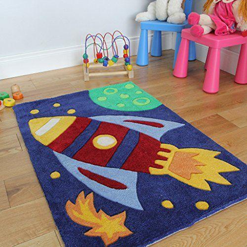 Muy buena alfombra juvenil para dormitorio ni os cohete for Alfombras cuarto bebe