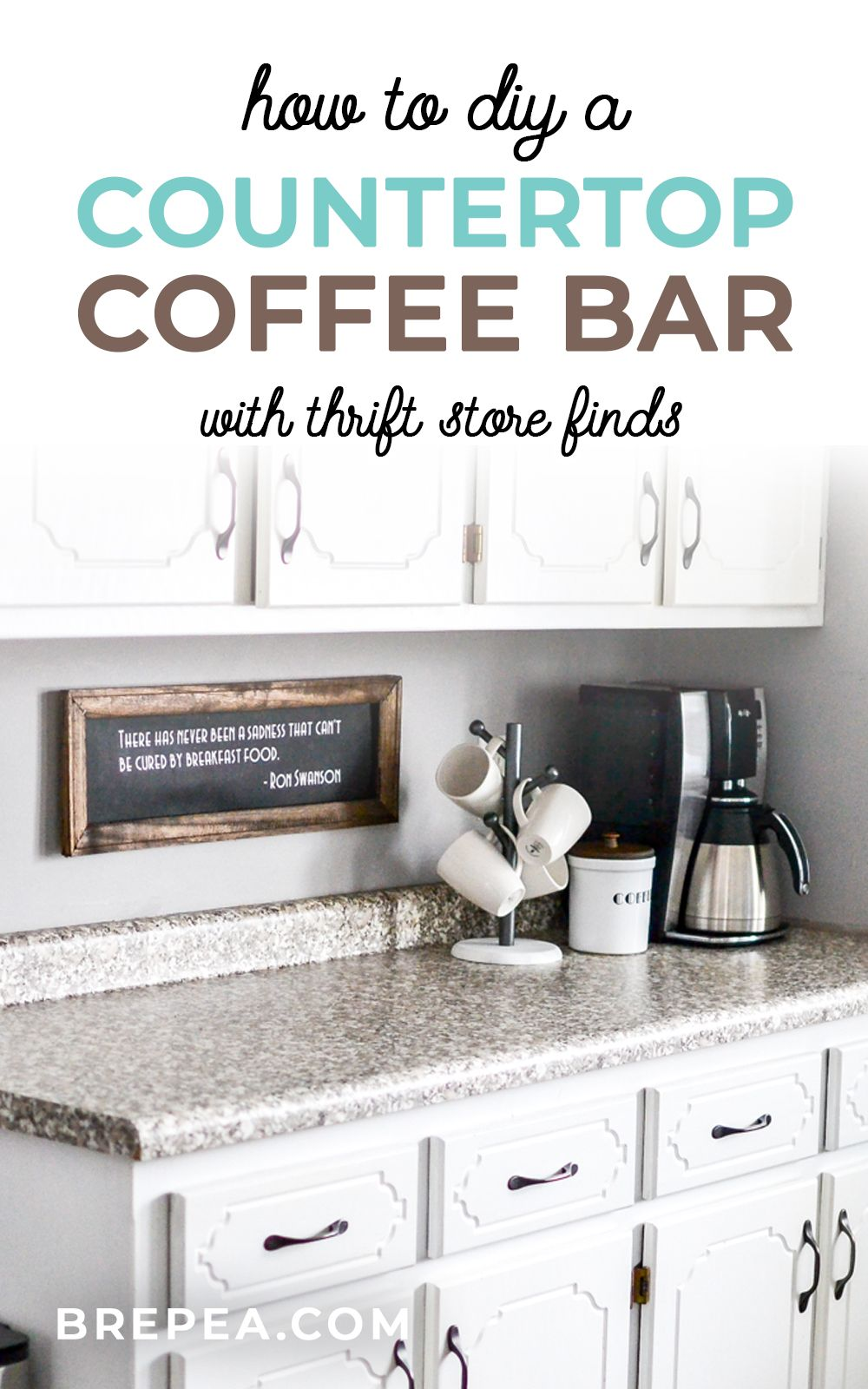 How to DIY a Countertop Coffee Bar at Home   Bre Pea   Classic ...