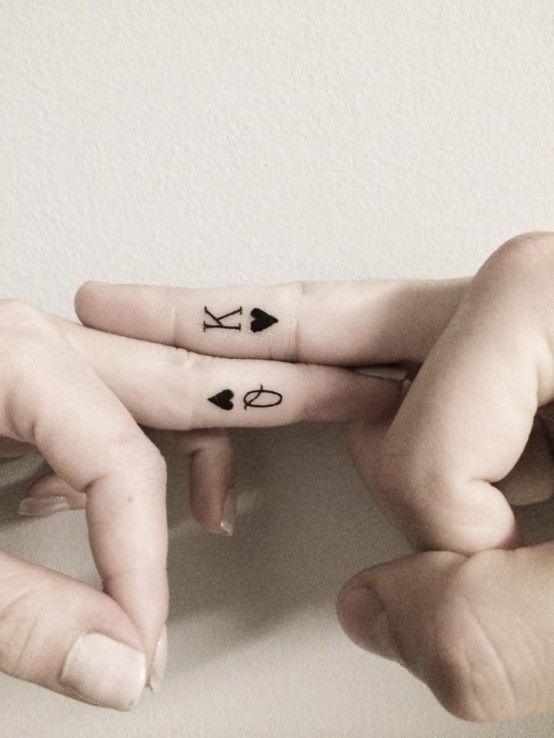 334489ad2 cute tattoo | Tumblr King Queen Tattoo, King Tattoos, Tattoos Motive, Tatoos ,