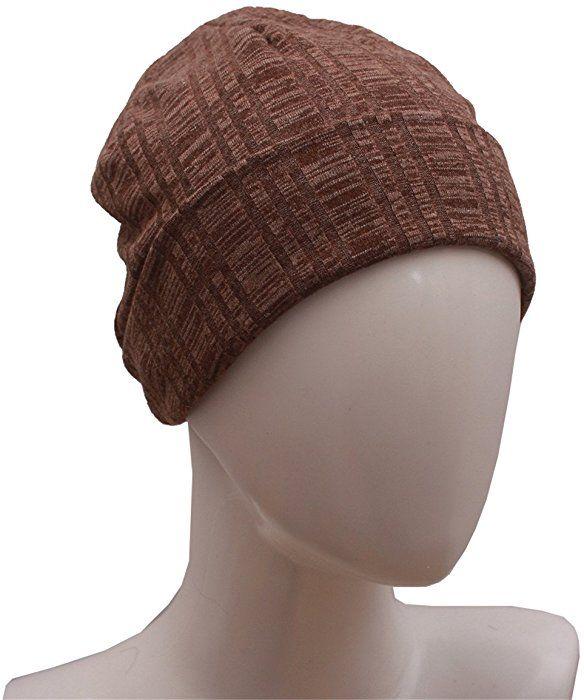14e0f24dabe Night Sleep Cap Chemo Hat - Women Brown Soft Slouchy Beanie Cotton Summer  at Amazon Women s