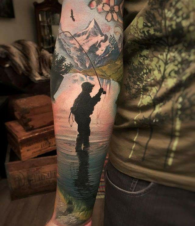 Pin By Tommy On Fly Fishing Tattoo Fly Fishing Tattoo Sleeve Tattoos Trout Tattoo