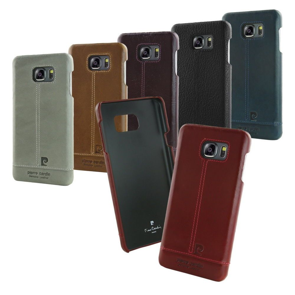 premium selection a6179 a6ab3 Pierre Cardin Genuine Leather Hard Back Case Skin For Samsung Galaxy ...