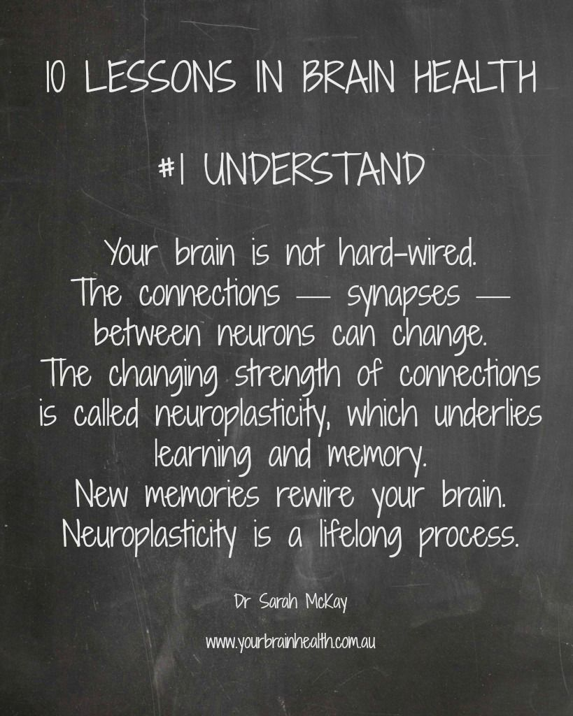 10 Lessons In Brain Health 1 Understand Neuroplasticity Brain Health Brain Injury Awareness