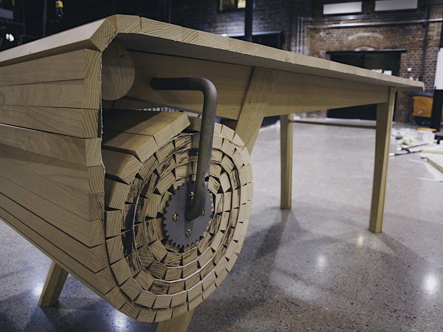 Einfach Genial Ausziehbarer Tisch Zum Kurbeln Ausziehbarer