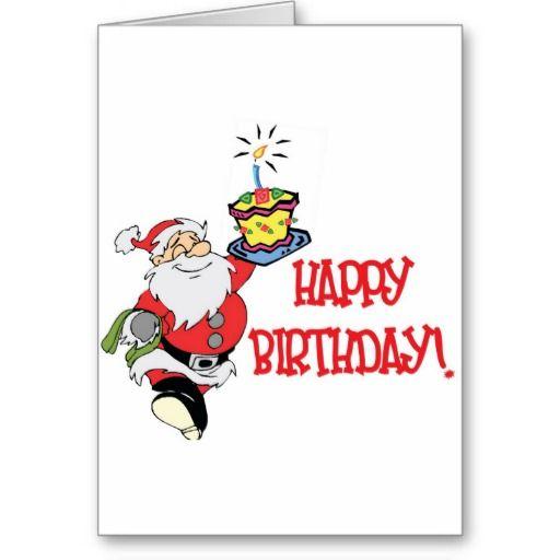 Christmas Birthday Greeting Card Zazzle Com In 2021 Christmas Birthday Cards Birthday Greeting Cards Birthday Greetings