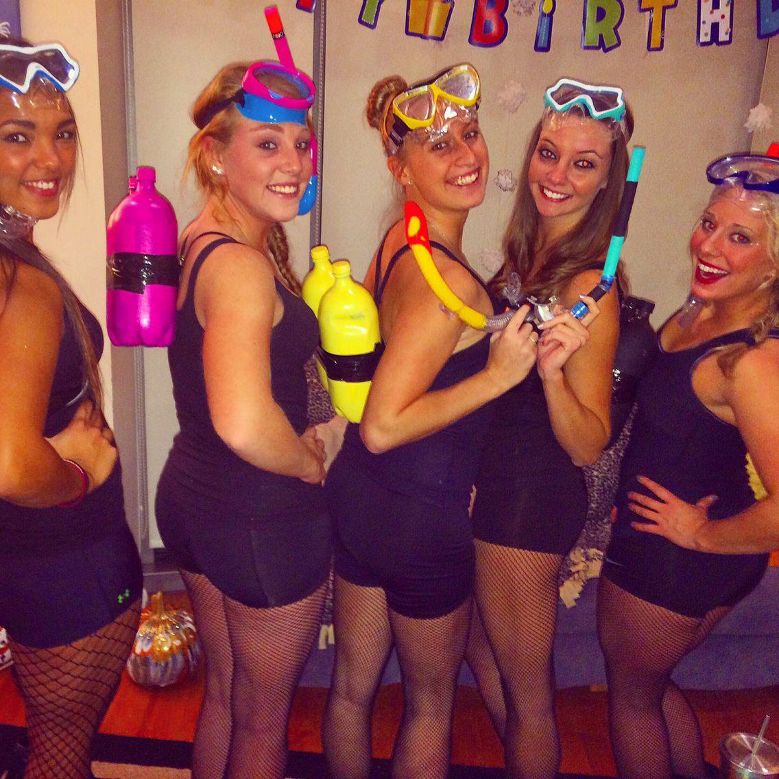 Scuba Diver Costume! Cute Creative And Cheap! - Want It   Pinterest - Scubas Kostuums En Creatief