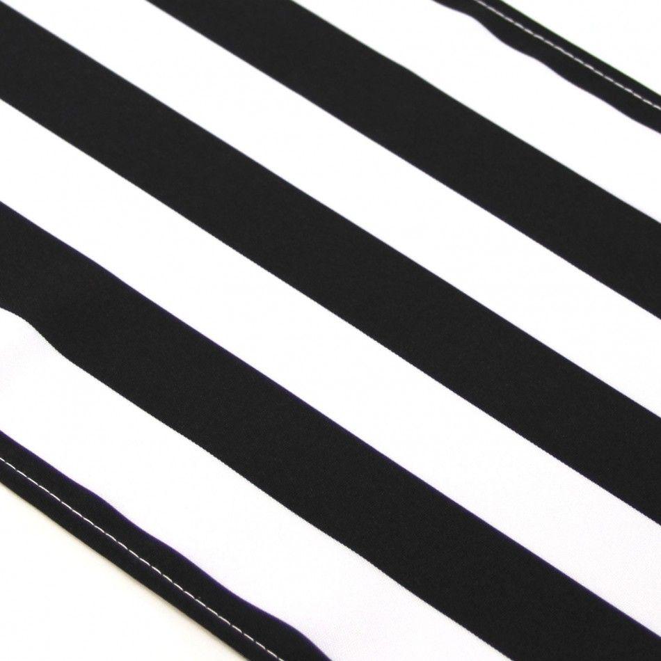 Striped Table Runner - Black [404833 Black Stripe Table Runner ...