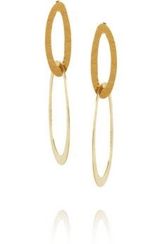 Hervé Van der Straeten Hammered gold-plated earrings | THE OUTNET