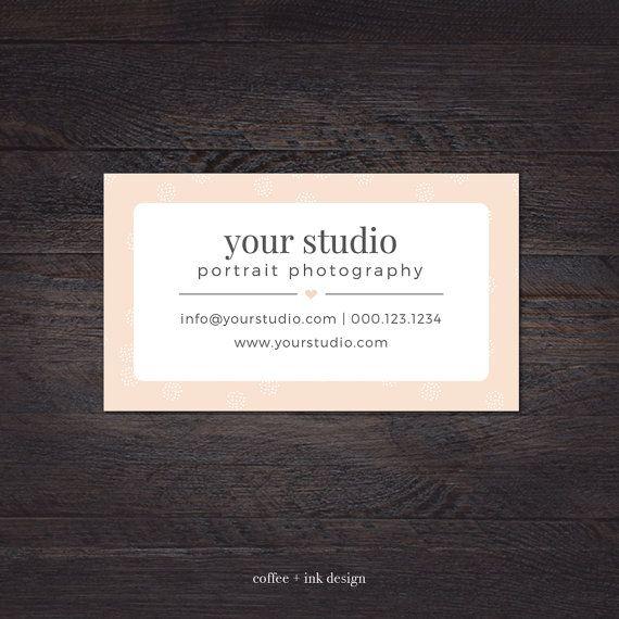 Photography Business Card Portrait Von CoffeeandInkDesign Auf Etsy