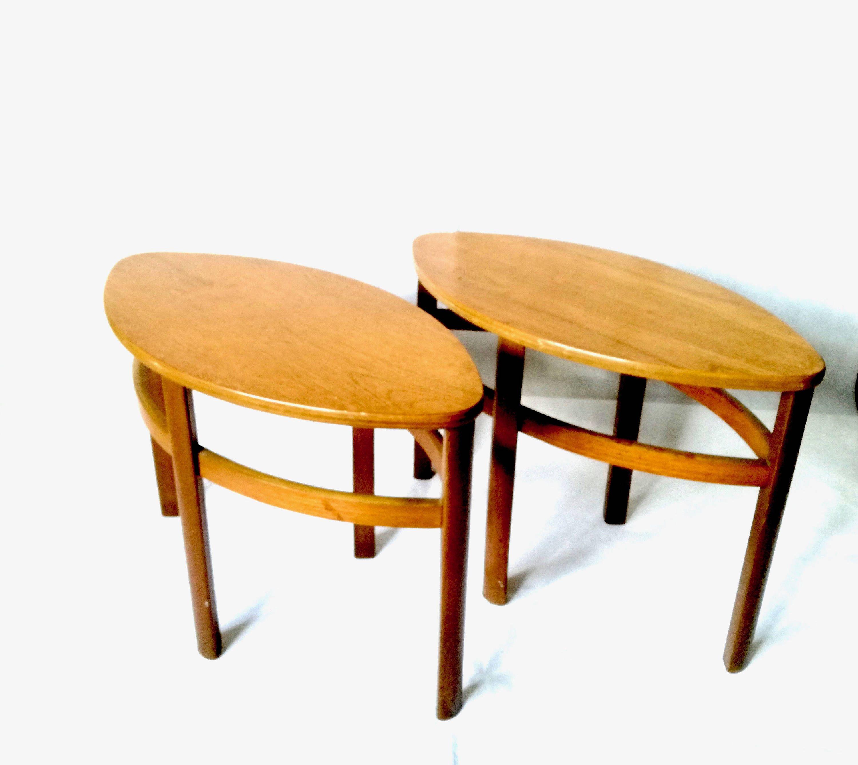 Set Of 2 Small Tables Danish Teak 1950 S Etsy Retro Coffee Tables Teak Table Retro Furniture [ 2671 x 3000 Pixel ]