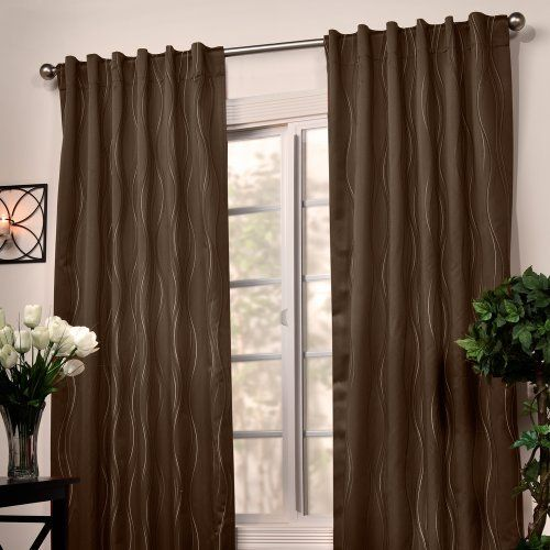 Veratex Swirl Stripe Hidden Tab Panel, 50 by 108-Inch, Espresso by Veratex. $26.99. Elegant. Hidden tab panel. Unique. The Swirl Stripe jacquard window panel is truly a one of a kind. The hidden back tabs create a soft and clean look giving your home a modern décor feel. The panels are constructed form 100-percent polyester, easy to take care of.