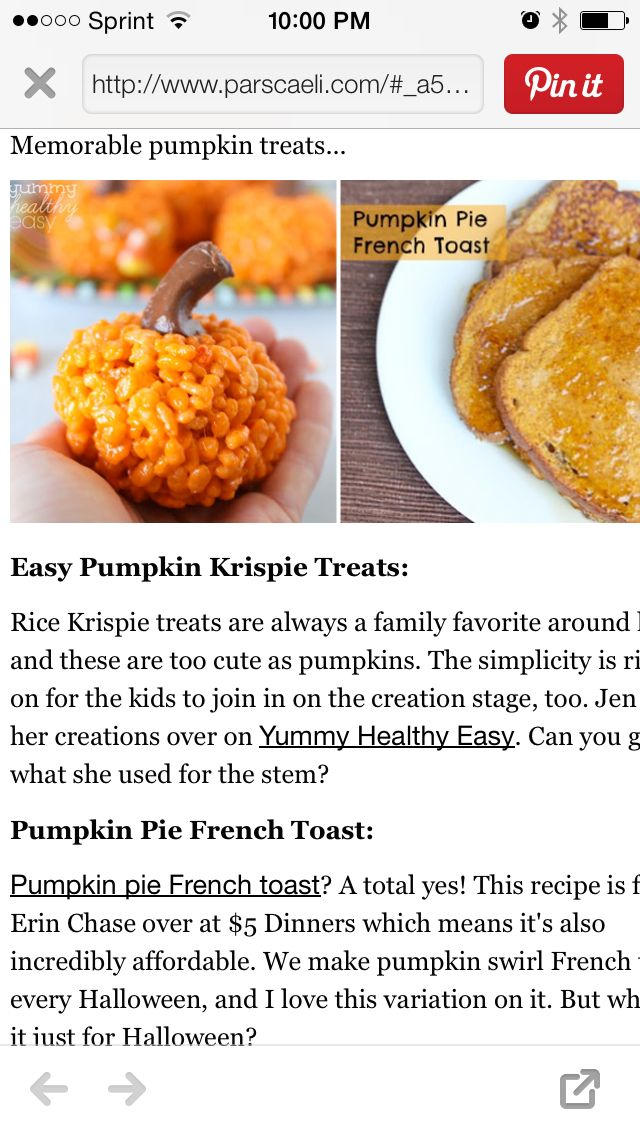 Pumpkin-shaped Rice krispie treats!