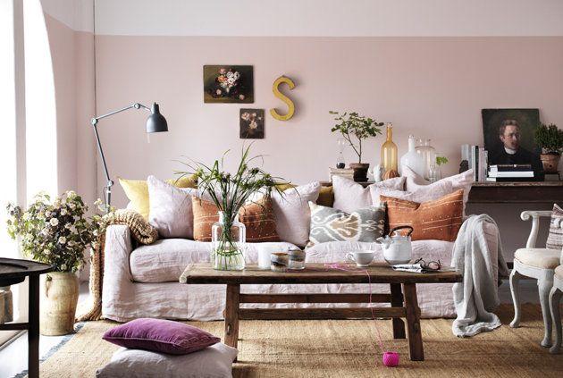lovely  pink living room brown living room decor pastel