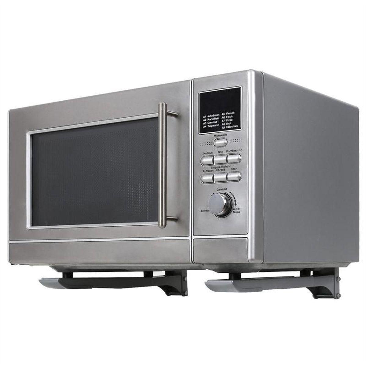 Fixation Pour Micro Onde mb-4 support pour four micro-ondes <35kg argenté - taille
