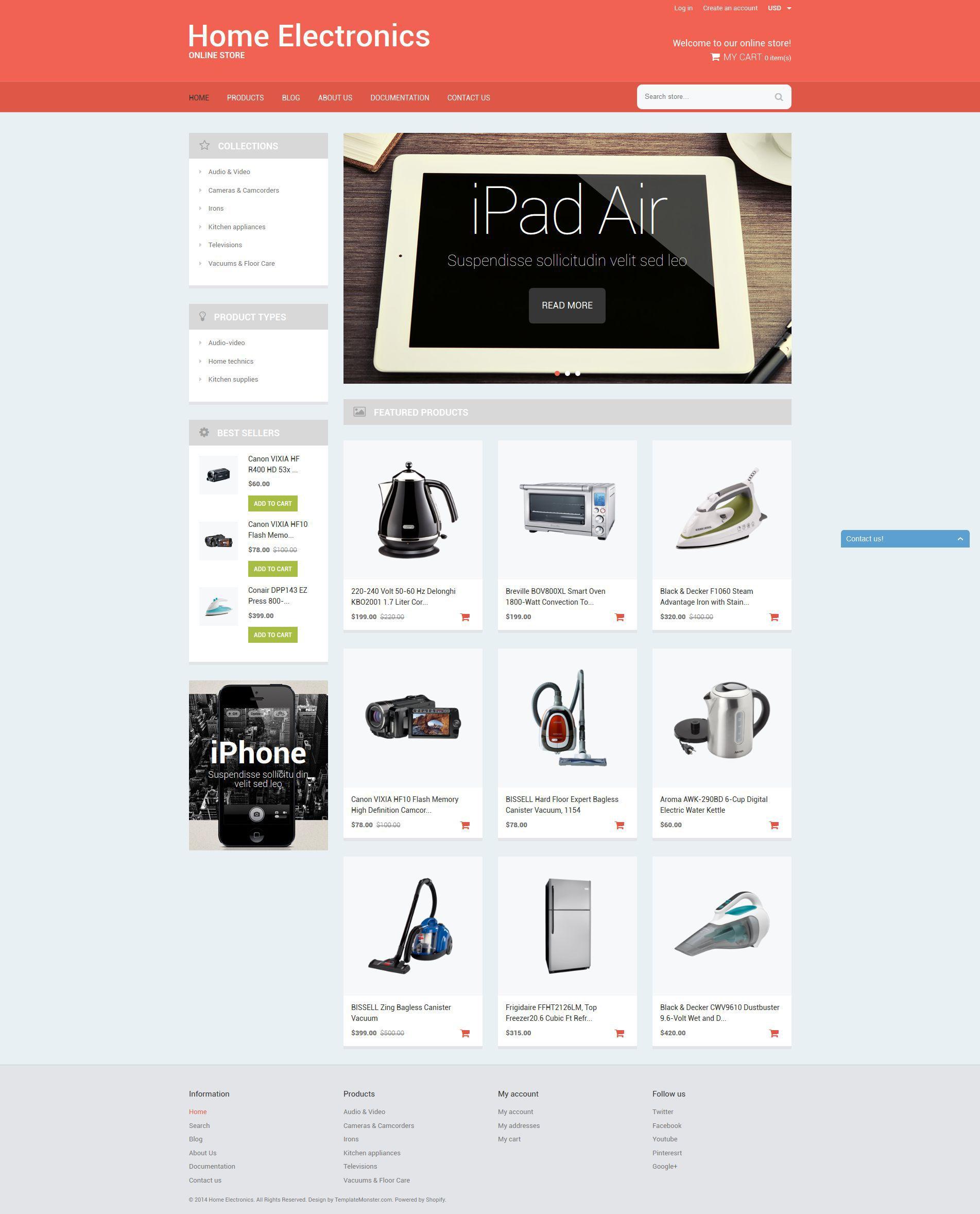 Home Office Tech Gear Shopify Theme #51786