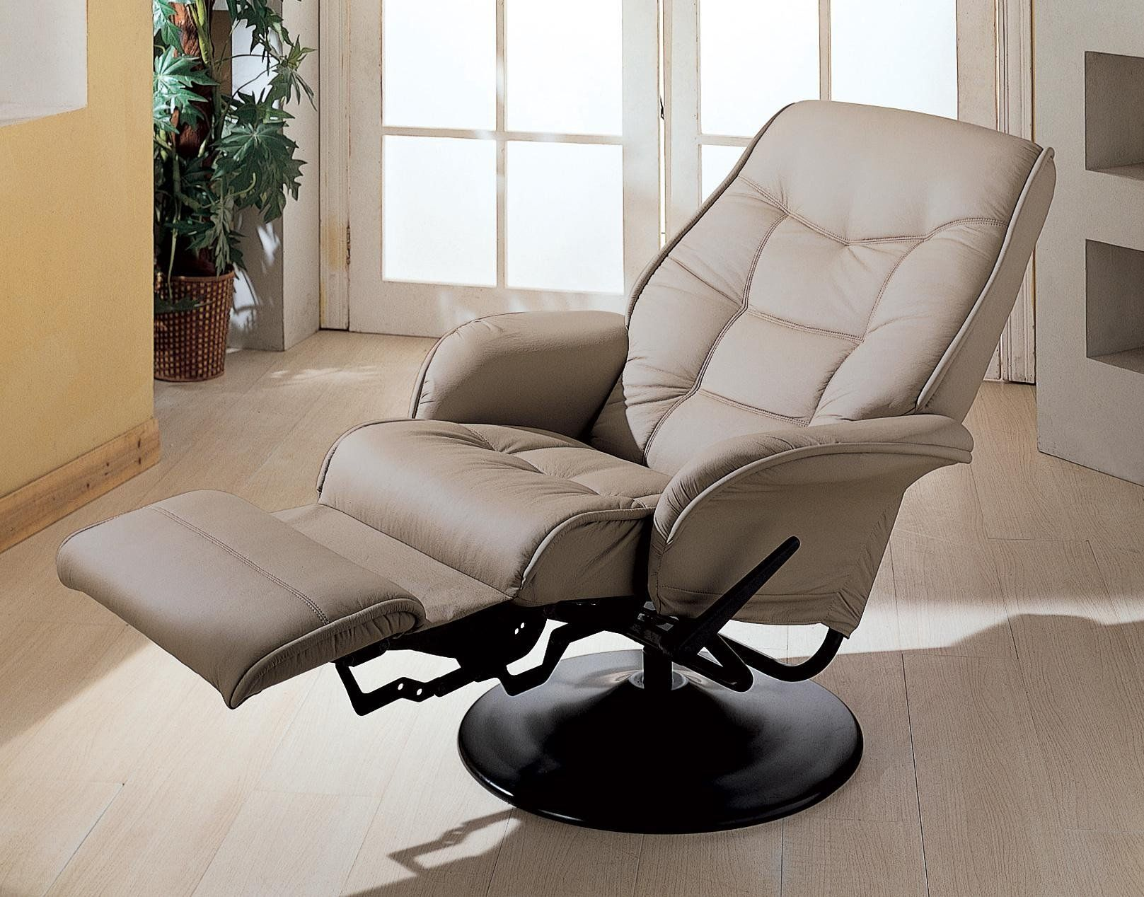 Coaster 7502 Beige Recliner Chair Swivel Recliner Chairs Modern Recliner Contemporary Recliners