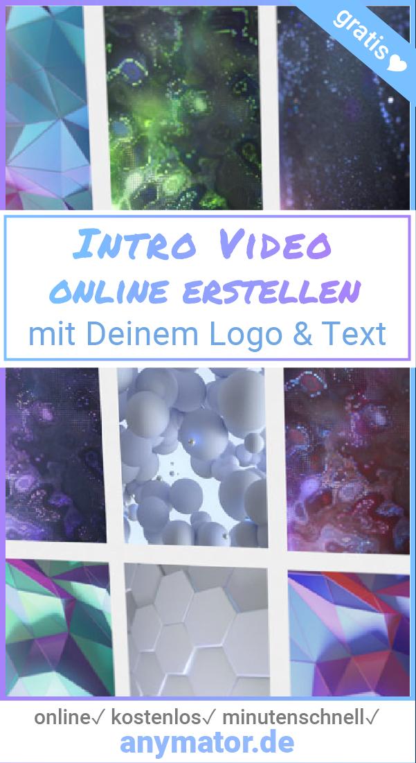 Intro Video Animationen Ganz Easy Und Schnell Selbst Erstellen Online Ohne Software Minutenschnell Und Kostenlos E Intro Erstellen Youtube Videos