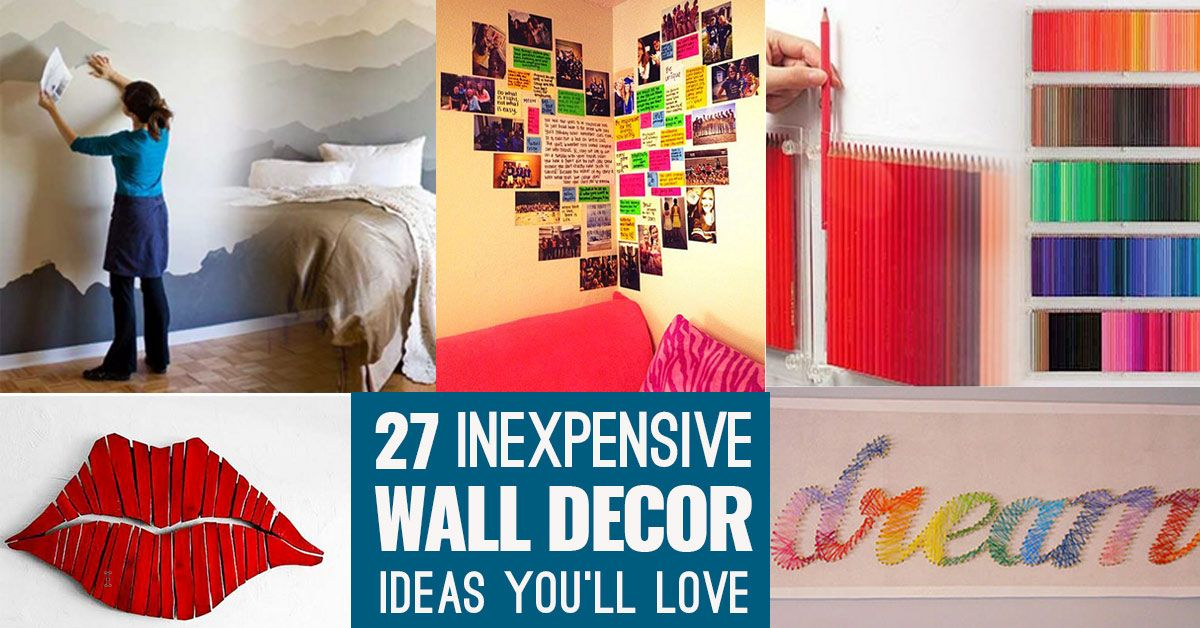 27 Insanely Inexpensive Ideas For Your Walls Diy Wall Art Diy Decor Wall Decor Bedroom
