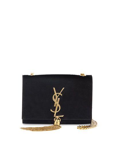 eafa79376011 Saint Laurent pebbled leather shoulder bag. Golden shoulder straps loop  through top  21 26