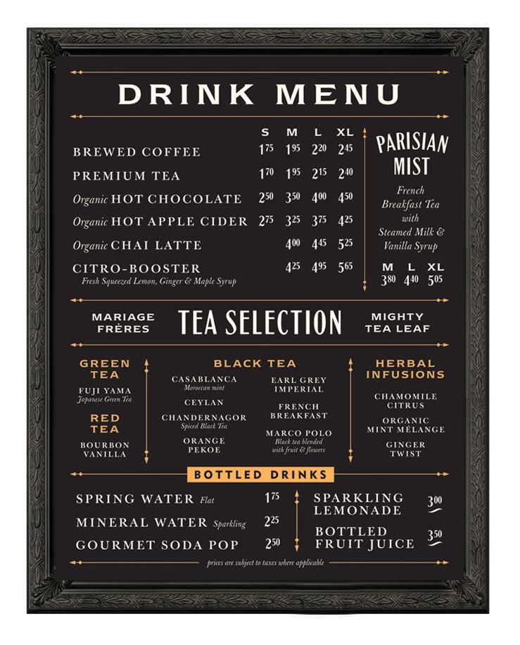 Cafe Menu Boards Melbourne