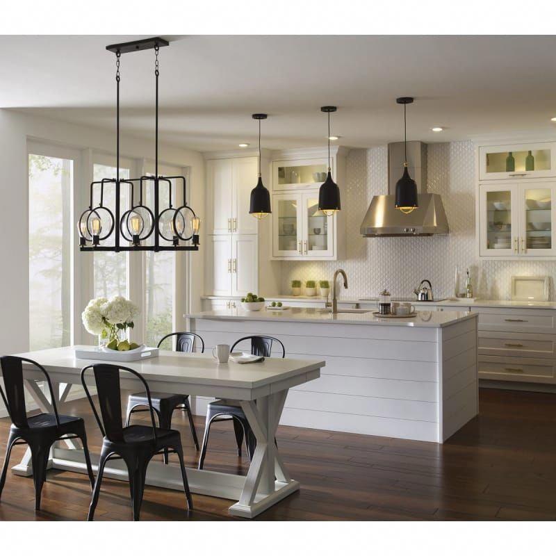 Progress Lighting P500033 031 Black Era Single Light 8 Wide Mini Pendant In 2020 Modern Kitchen Kitchen Remodel Kitchen Design