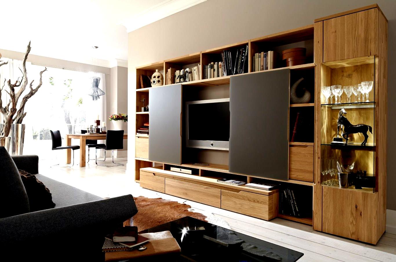 Light Wood Entertainment Center Wall Unit In 2020 Modern Tv Unit