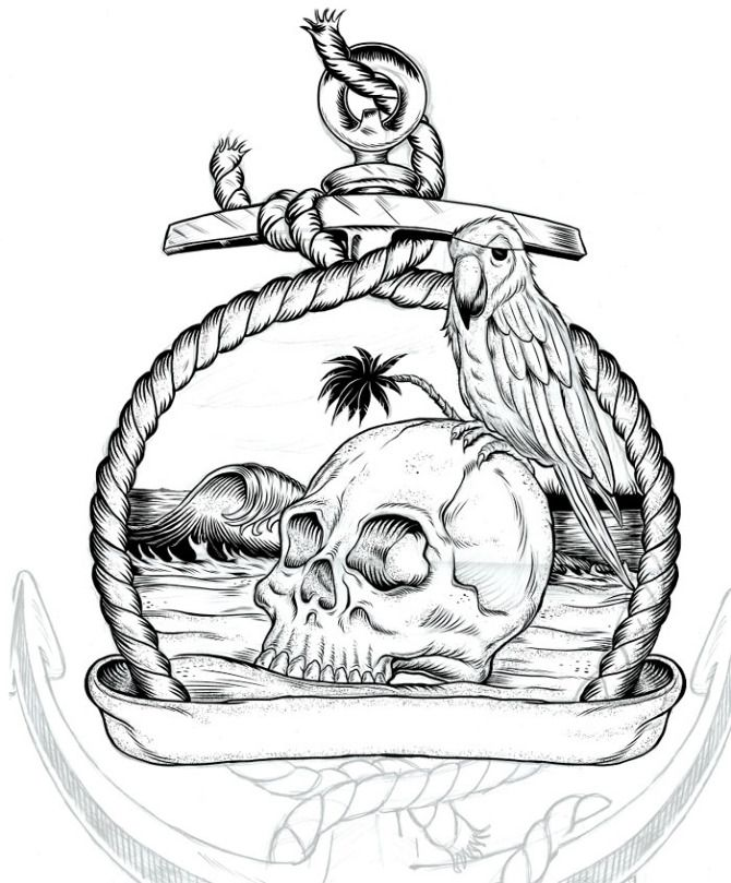 Drawing Lines Surf Movie : Gallery for nautical drawings tattoos pinterest