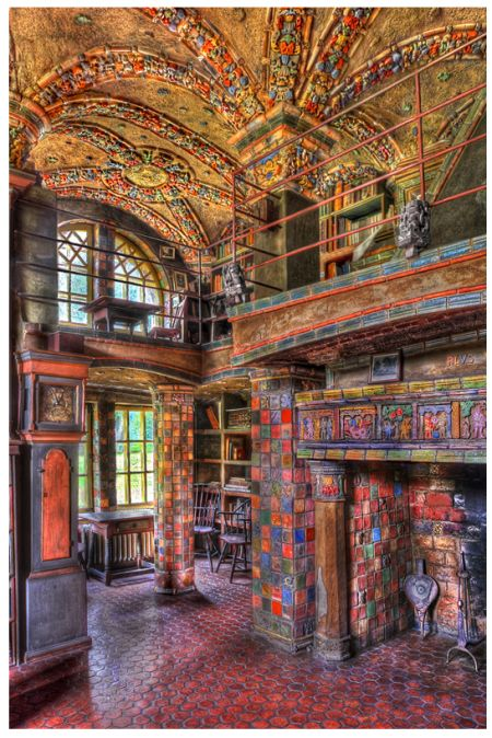 The Library At Fonthill Castle This And Mercer Museum Tile Works Are All Absolutely Amazing I Try To Visit Least Once A Year