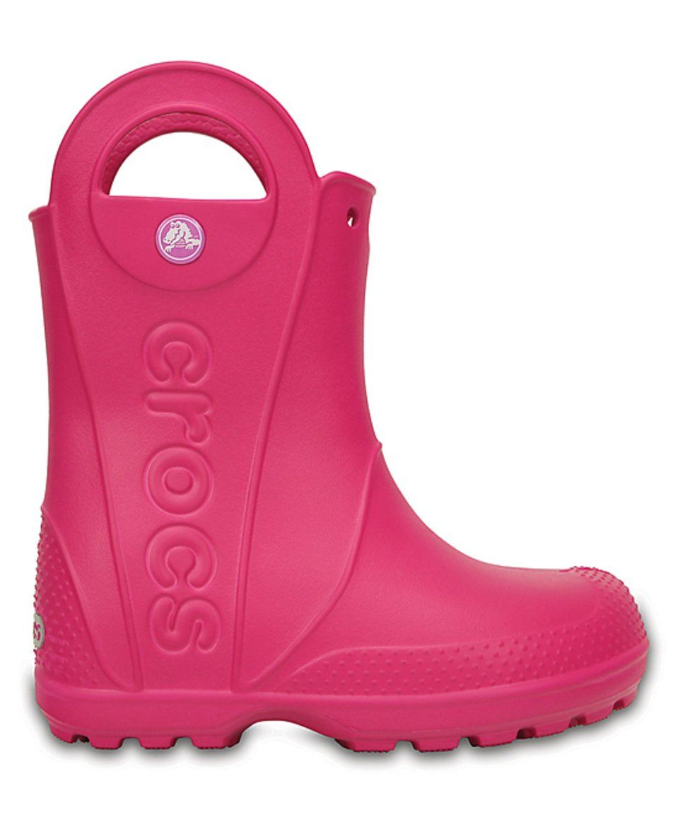 Take a look at this Candy Pink Handle It Rain Boot
