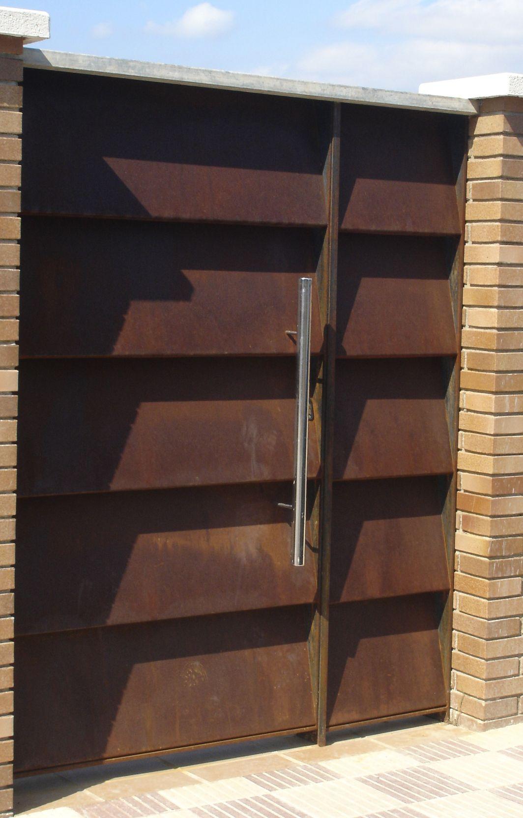 Acero corten oxidado puertas pinterest doors - Pintura para hierro exterior ...
