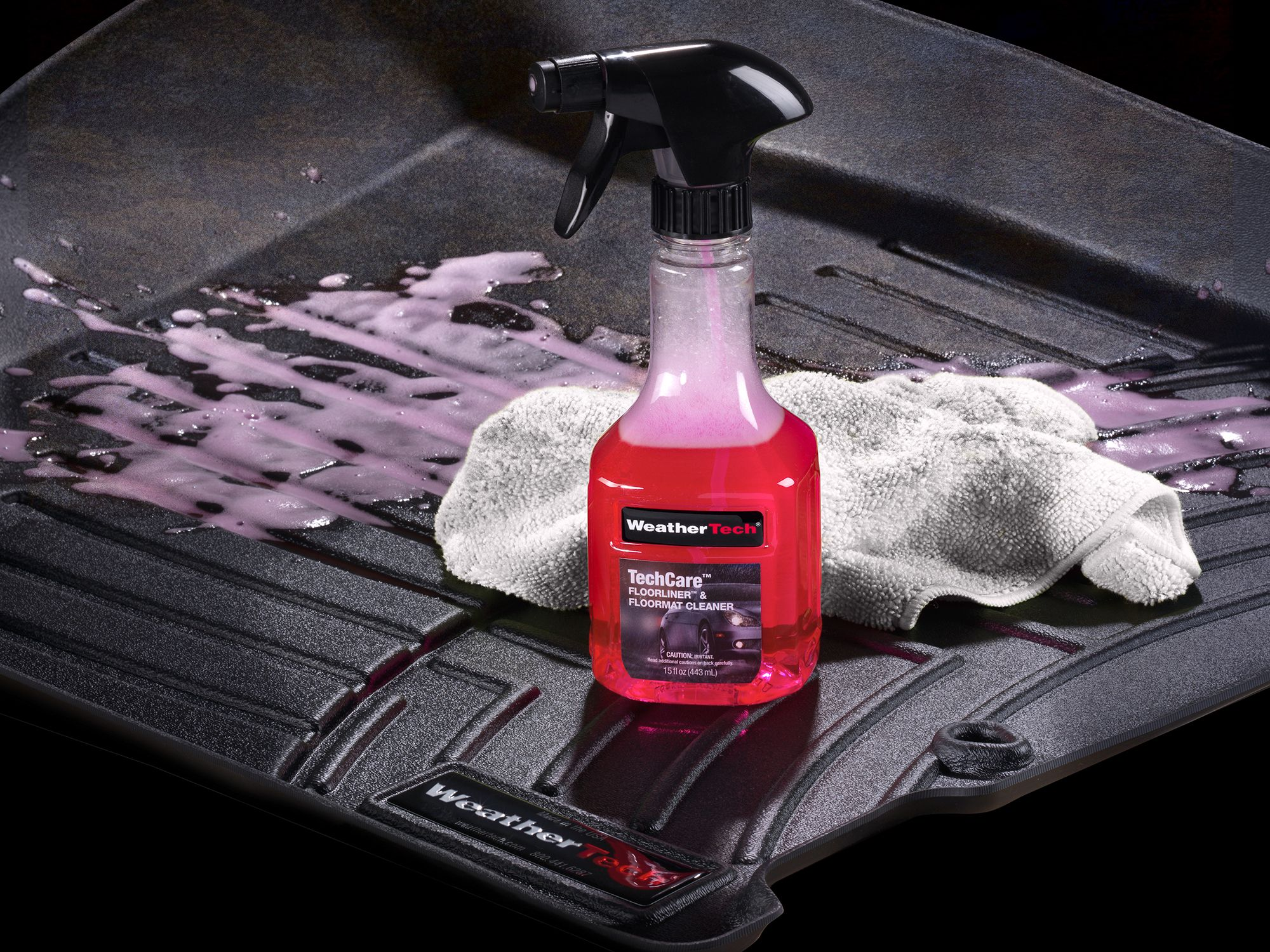 Weathertech floor mats cleaning - Techcare Floor Mat Cleaner And Protector Kit Combined Dissolves Grease And Oil Stains And Leaves A Like New Appearance And Anti Flip Finish On Your Floor