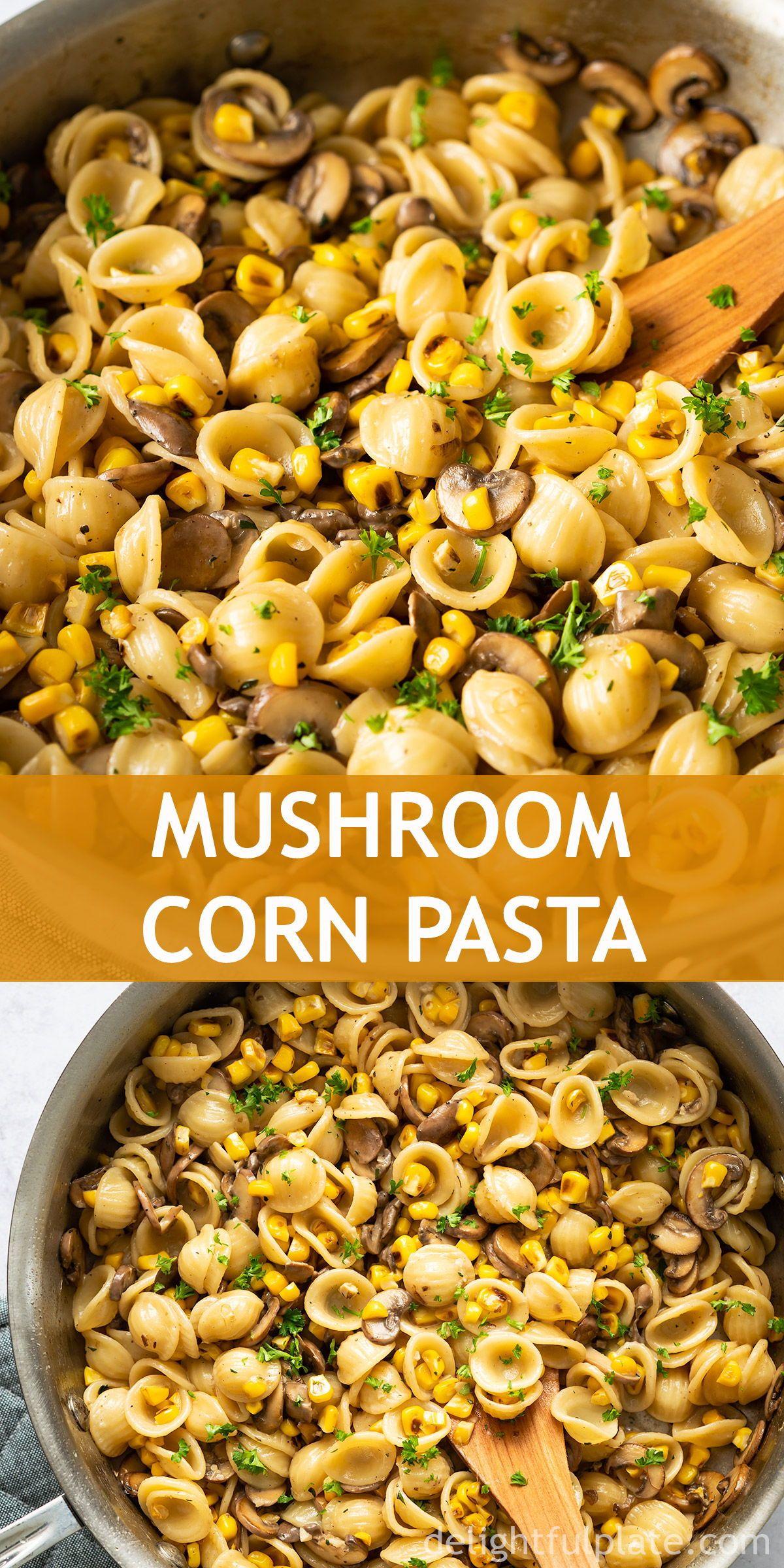 Mushroom Corn Pasta images