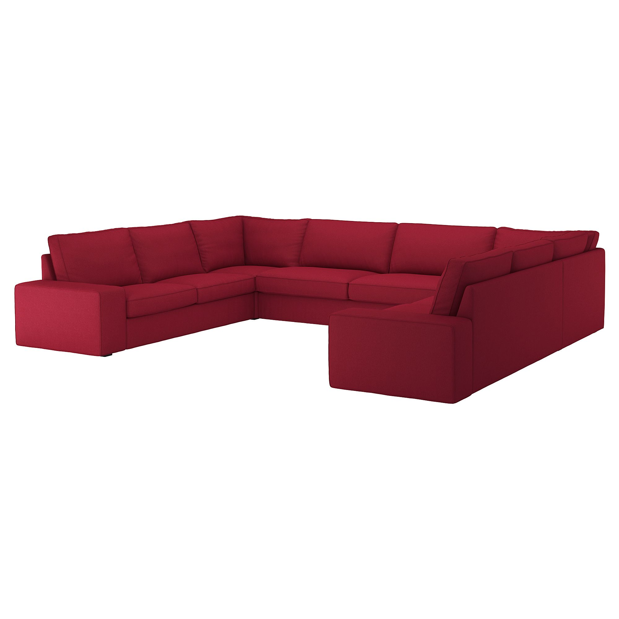 Kivik Sectional 6 Seat Orrsta Red U Shaped Sofa