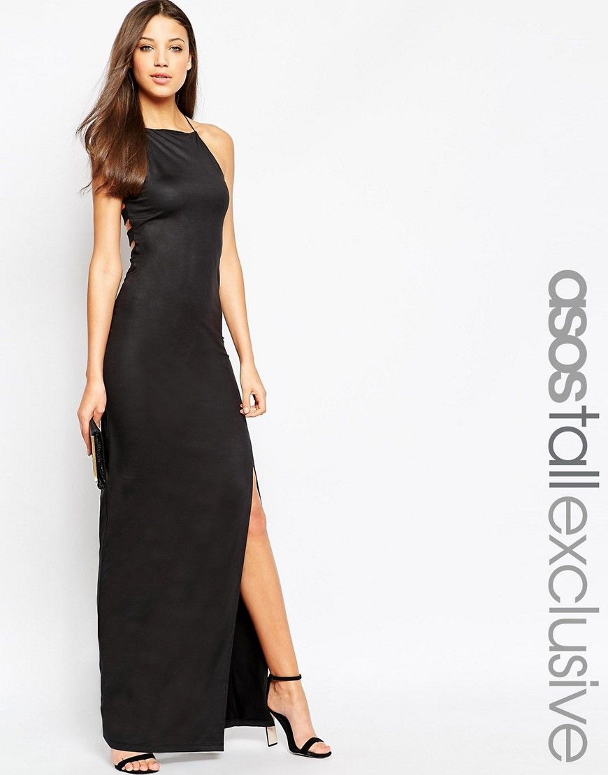 Image 1 of ASOS TALL 90\'s Halter Maxi Dress | Gorgeous Gowns | Pinterest