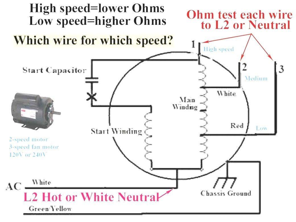 3 Speed Electric Fan Motor Wiring Diagram Di 2020